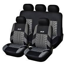 best quality hot polyester fabric universal car seat cover fit most cars with tire track