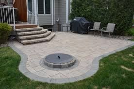 Fire Pit, Paver Patios With Fire Pit Cornered Circular Stone Squared  Natural Tile Brick Chromed