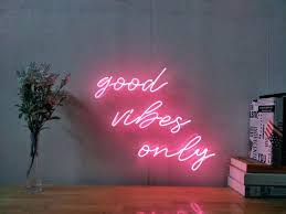neon wall sign new good vibes only neon art sign handmade visual artwork wall home decor neon wall