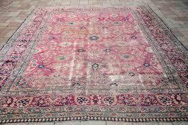 pink persian rug small