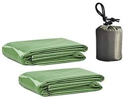 Savlot <b>Emergent Blanket</b> 2pcs First Aid Kit Camping <b>Lifesave</b> Warm ...
