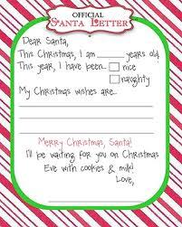 Santa Wish List Template Free Printable Christmas Printables