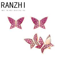 2019 RANZHI <b>SWA Original High Quality SWA</b> Pierced Earrings ...