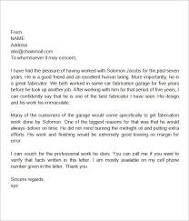 Letters Of Recommendation Personal Personal Letter Of Recommendation For A Family Member