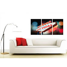 Living Room Sets Las Vegas Cheap Las Vegas Canvas Prints Set Of 3 For Your Living Room