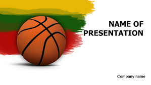 Basketball Powerpoint Template Download Free Lithuanian Basketball PowerPoint Template For Presentation 10