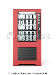 Vending Machine 3d Cool Vending Machine Isolated On White Background 48d Rendering