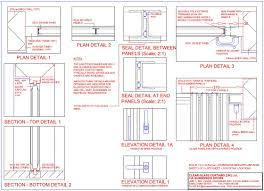 frameless glass door detail drawing technical