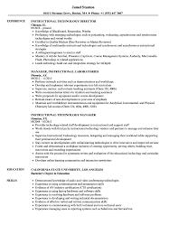 Instructional Resume Samples Velvet Jobs