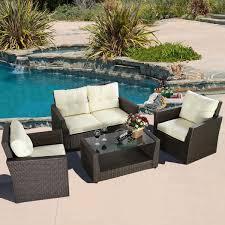 picture of outdoor patio furniture set wicker rattan 4 piece