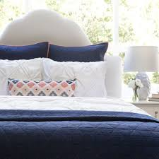 The Diamond Box-Stitch Navy Blue Quilt & Sham | Crane & Canopy & Bedroom inspiration and bedding decor | The Diamond Box-Stitch Navy Blue  Quilt & Sham Adamdwight.com