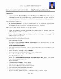 Electrical Site Engineer Resume Sample Fresh Resume Electrical