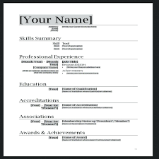 How To Make Resumes On Word Create A Resume Template Trezvost