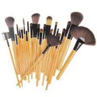 2016 best selling professional 24 makeup brush set tools make up toiletry kit wool brand make