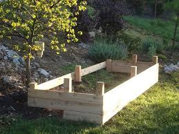 raised garden bed for steep slope diy