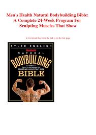 Bodybuilding Workout Chart For Men Pdf P D F File Mens Health Natural Bodybuilding Bible A