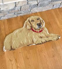golden retriever wool rug