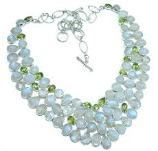 drops of the rain genuine moonstone 925 sterling silver handcrafted necklace