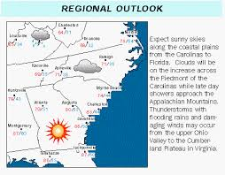 newspaper weather pages regional outlook