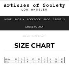 Articles Of Society Jeans Size Chart Articles Of Society Distressed Skinny Jeans