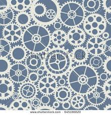Gear Pattern Simple Seamless Wheel Gear Machine Pattern Industry Stock Vector Royalty