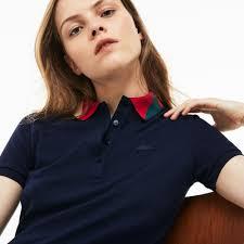 <b>Women's Slim Fit</b> Colourblock Jacquard Neck Mini Piqué Polo <b>Dress</b> ...