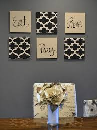 DIY Beautiful And Easy Living Room Decoration Ideas  Burlap - Art for the dining room