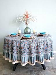 52 inch round tablecloth inch round tablecloth impressive tile print blue round tablecloth inch round regarding