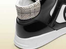 gucci shoes black and white. gucci mens shoes black \u0026 white leather sneakers (ggm2100) and k