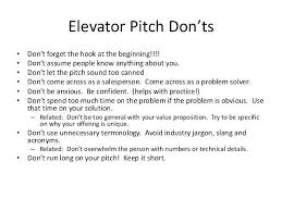 Elevator Pitch Example Jobs4finance Us