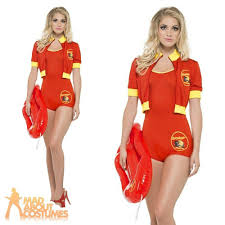 baywatch liuard costume fancy dress las womens swimsuit outfit 90s for