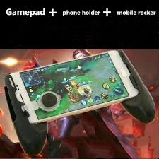 on its back the cell phone holder can be fixed at 3 diffe angles which makes it convenient for eing games and videos