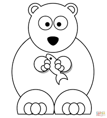 Small Picture Coloring Pages Polar Bear Free Printable For Kids clarknews