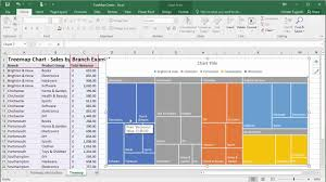 Excel Tree Chart Create Treemap Charts In Excel 2016