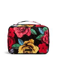 vera bradley large blush brush makeup case in havana rose the paper