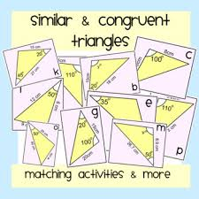 Congruent and similar triangles congruency two shapes are congruent if one of the shapes fits exactly on top of the other shape. Similar And Congruent Triangles Worksheets Teaching Resources Tpt