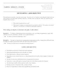 On Job Training Objectives Marketing Manager Career Objective Examples For Resume Sample Also