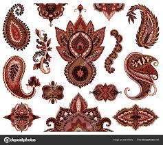 пейсли набор восточные декоративные элементы орнамент татуировка хны