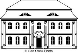 attic clipart black and white. Unique Black Two Storey House With Mansard Isolated On White Background To Attic Clipart Black And White 0