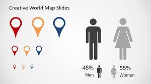 Free Creative World Map Slides For Powerpoint Slidemodel