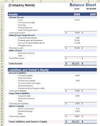 balance sheet template sample balance sheet template for excel