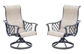 backyard creationsar tacoma swivel rocker dining patio chair 2 pack rocking swivel patio chairs swivel rocker rocking chair