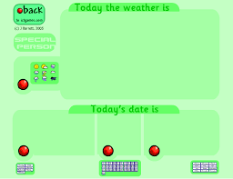 Ict Date Chart Date Weather Chart For Your Iwb Add A Special Person Of
