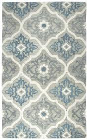 blue and gray rug hand tufted wool area grey bathroom rugs