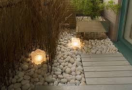 japanese garden lighting. Outdoor Lighting Set In Stones And Decking Japanese Garden
