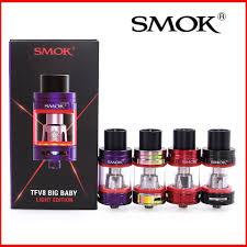 Tfv8 Big Baby Tank Light Edition 100 Original Smok Tfv8 Big Baby Light Edition Tank Atomizer Vapen Electronic Cigarette