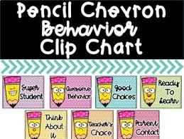 Pencil Chevron Behavior Clip Chart
