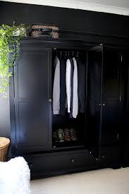 ... Black Freestanding Wardrobe From Very With Door Open In Black Bedroom    See More At Www ...
