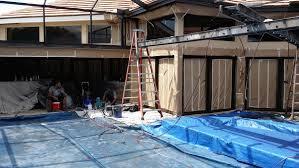 sliding glass doors being repainted