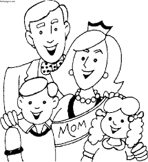Small Picture Preschool Coloring Pages My Family